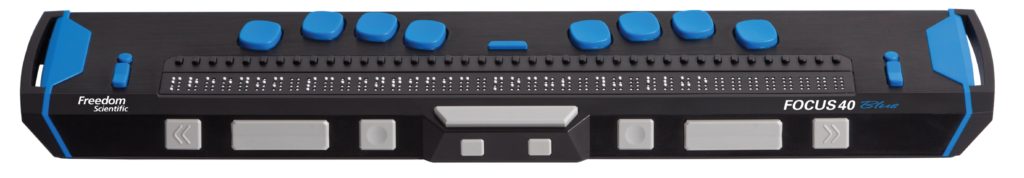 A picture of the Focus 40 Blue braille display